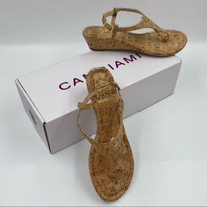 Cambiami Cork Wedge Heeled Sandals